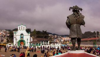 Indígenas tzotziles del municipio de Chenalhó, en Chiapas fueron desplazados por hechos violentos; hoy exigen volver a su comunidad sin riesgo. (Archivo)