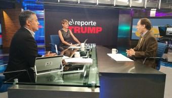 Javier Tello y su Reporte Trump en Despierta con Loret. (Twitter, @NTelevisa_com)