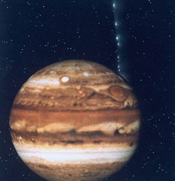 Los astrónomos invitaron a las personas a mirar el disco de Júpiter, así como sus cuatro satélites más grandes (Getty Images)