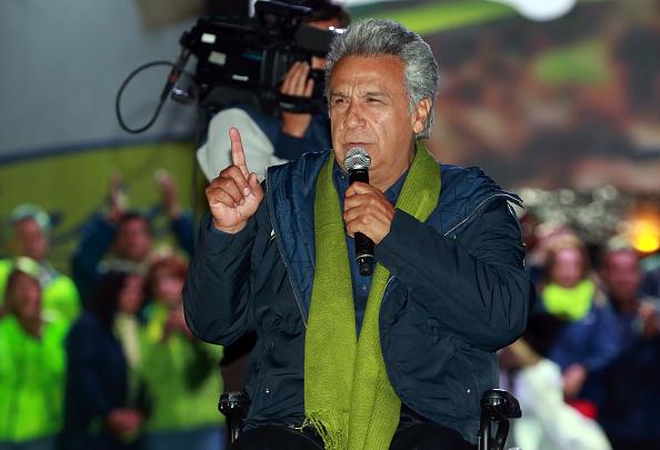 Moreno, un administrador de 64 años que sufre de paraplejia prometió mejorar los planes sociales del mandatario Rafael Correa (Getty Images)