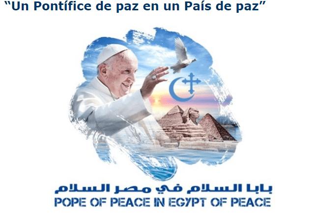 Logotipo de la iglesia católica egipcia sobre la visita del papa Francisco. (es.radiovaticana.va)