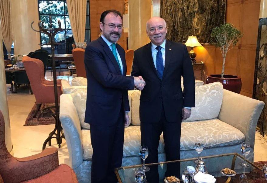 Luis Videgaray, titular de la SRE, se reúne con Eladio Loizaga, canciller de Paraguay (Twitter @SRE_mx)