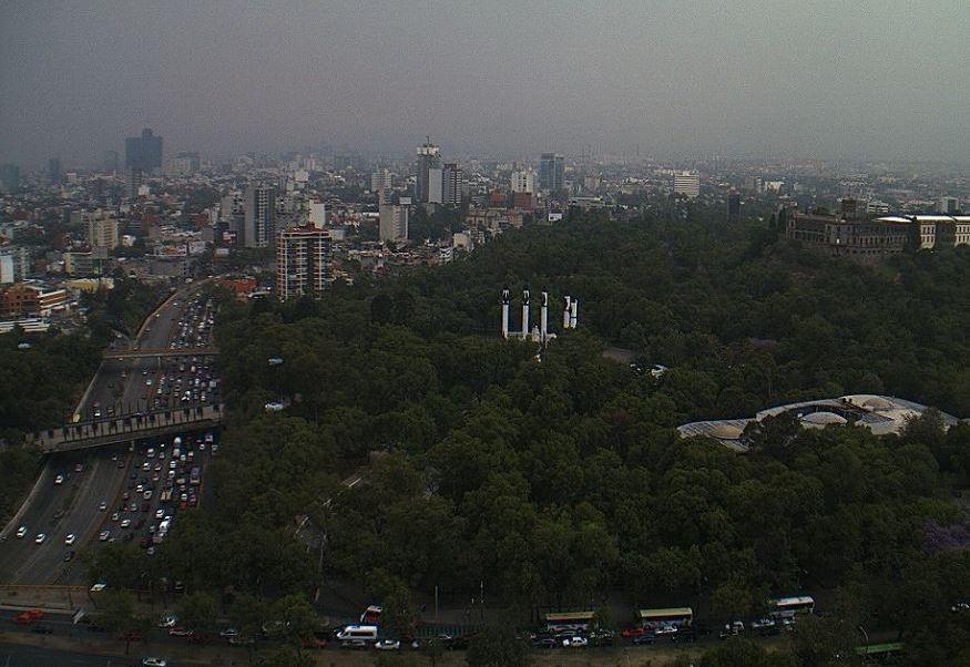 Esta tarde el Valle de México registra mala calidad del aire. (@webcamsdemexico)