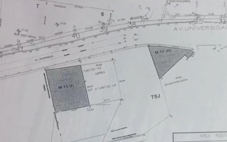 Mapa del terreno concedido de forma irregular al suegro de Javier Duarte (Noticieros Televisa)