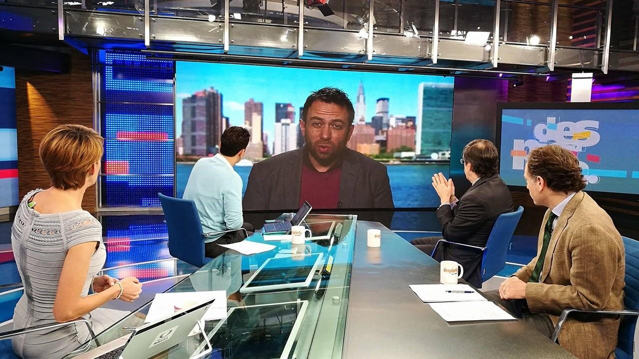 Maruan Soto Antaki, Gabriel Guerra Castellano y Javier Tello en la mesa de Despierta con Loret. (Twitter, @NTelevisa_com)