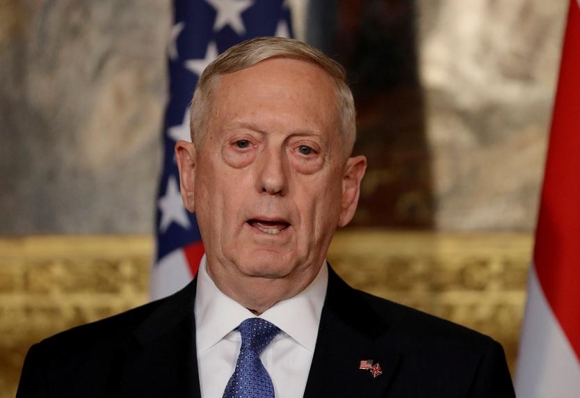El secretario de Defensa estadounidense, James Mattis, durante una conferencia de prensa (Reuters/archivo)