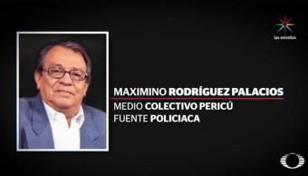 Maximino Rodríguez, periodista asesinado. (Noticieros Televisa)