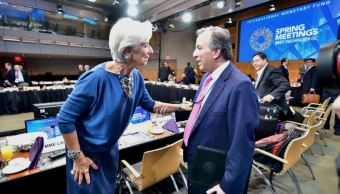 La directora gerente del Fondo Monetario Internacional (FMI), Christine Lagarde, se reunió con el secretario de Hacienda, José Antonio Meade Kuribreña (SHCP)