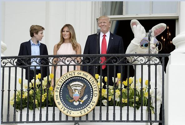 Melania y Donald Trump celebraron las Pascuas en la Casa Blanca.