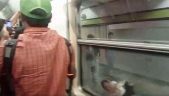 Metro, pasajeros, tren, falla mecanica, video, estacion