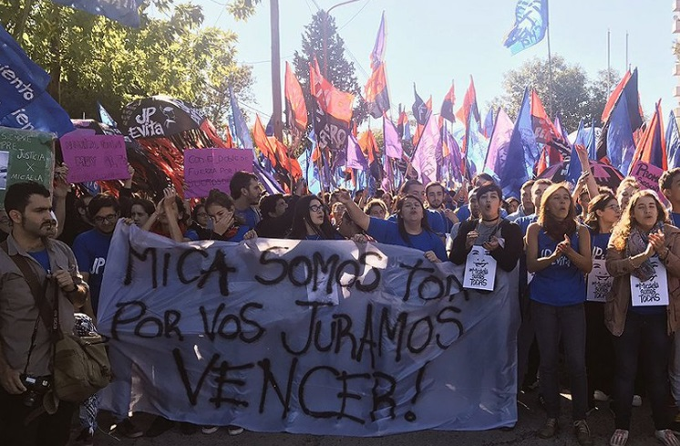 La joven Micaela García, quien apenas tenía 21 años y era una activista del movimiento 'Ni Una Menos (Twitter @larepublica_ar)