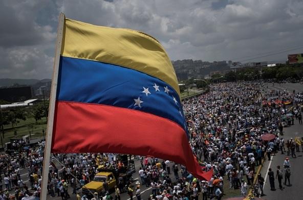 Opositores, presidente, Nicolás Maduro, Caracas, Venezuela