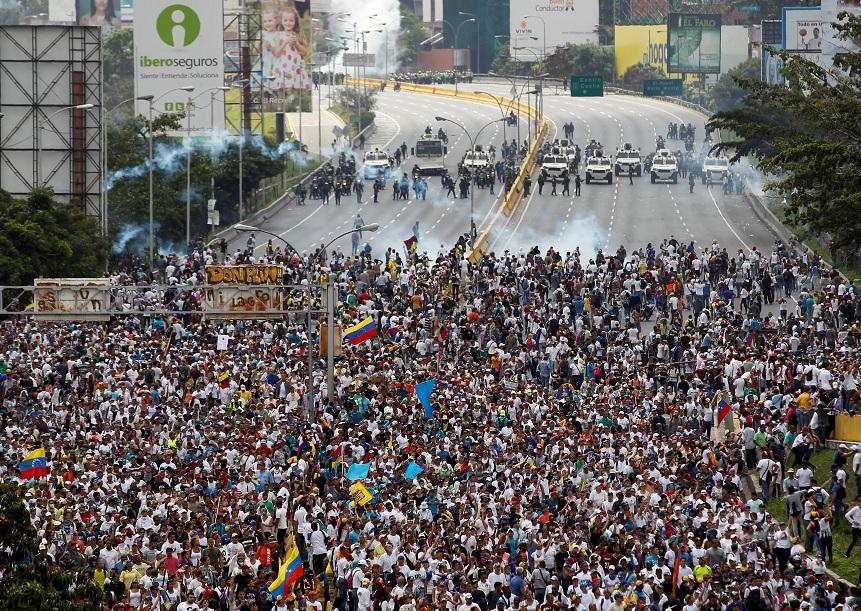 Imágenes de la represión a las manifestaciones en Venezuela