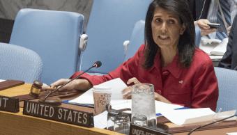 Nikki Haley, embajadora de Estados Unidos ante la ONU. (AP)