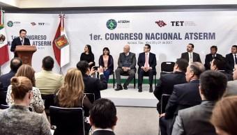 Primer Congreso de la Asociación de Tribunales y Salas Electorales de la República Mexicana, que se realizó en Apizaco, Tlaxcala. (Twitter @osoriochong)