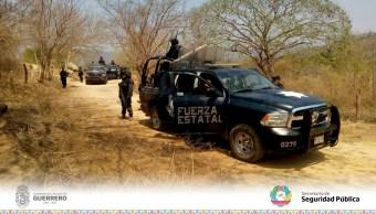 Policía Estatal realiza despliegue de seguridad en comunidades de La Unión, Guerrero. (Twitter @SSPGro, archivo)