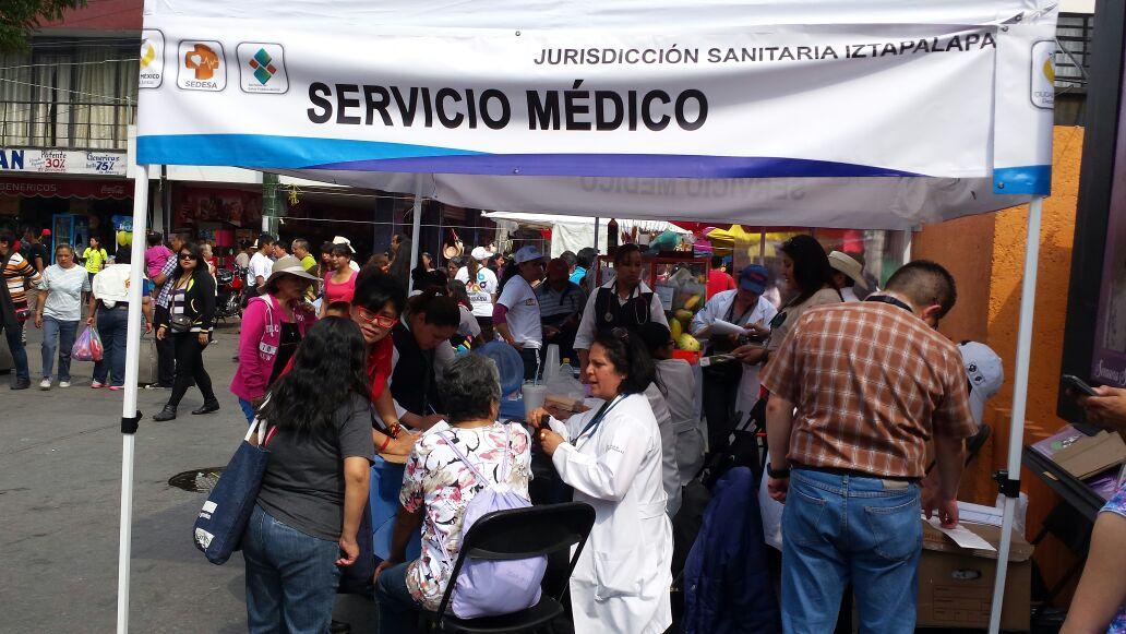 Operativo sanitario en Iztapalapa durante Semana Santa (Sedesa)