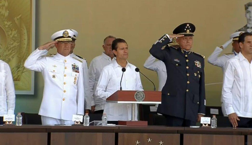 El presidente Peña Nieto encabeza la ceremonia de la Gesta Heroica de Veracruz. (Presidencia de la República)