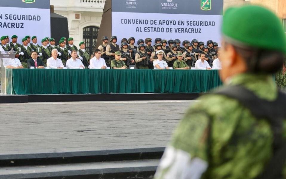 Policía militar llega a Veracruz para redoblar la vigilancia (Twitter @SP_Veracruz)