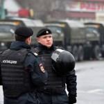 La policía rusa despliega un operativo de seguridad en las principales calles (Getty Images)