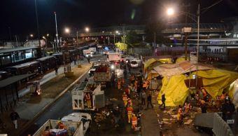 Retiran puestos ambulantes en San Lázaro, CDMX. (Twitter @SeGobCDMX)