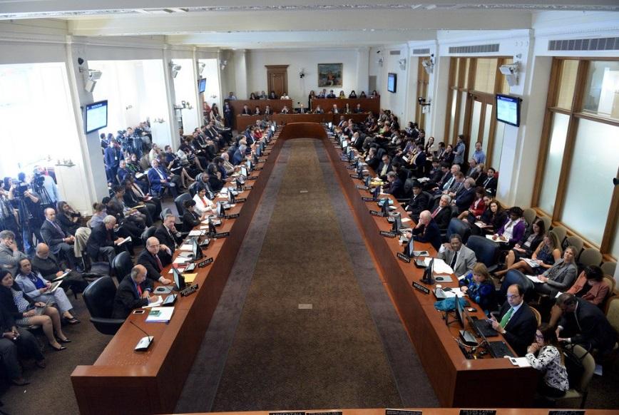 El gobierno de Venezuela desconoce la resolución adoptada por la OEA (Twitter: @OEA_oficial)