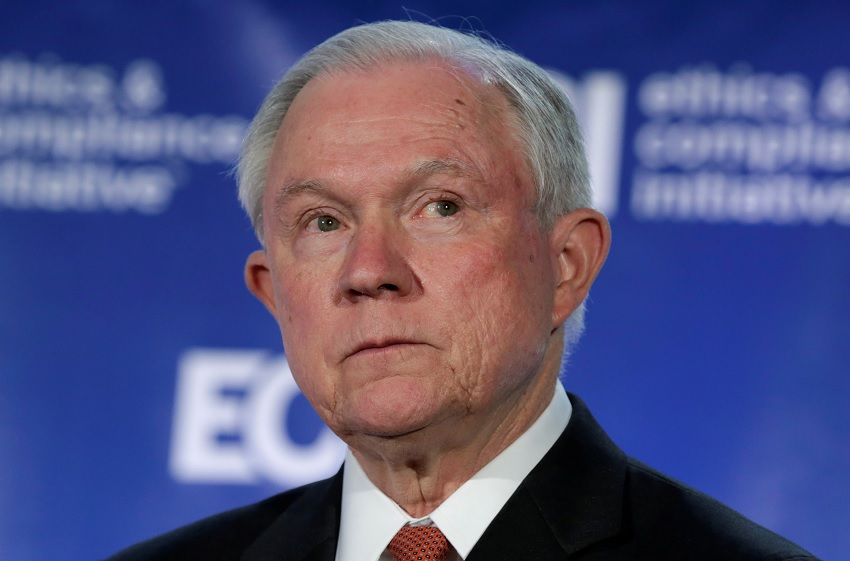 El fiscal general de Estados Unidos, Jeff Sessions, pronuncia un discurso en Washington, Estados Unidos (Reuters)
