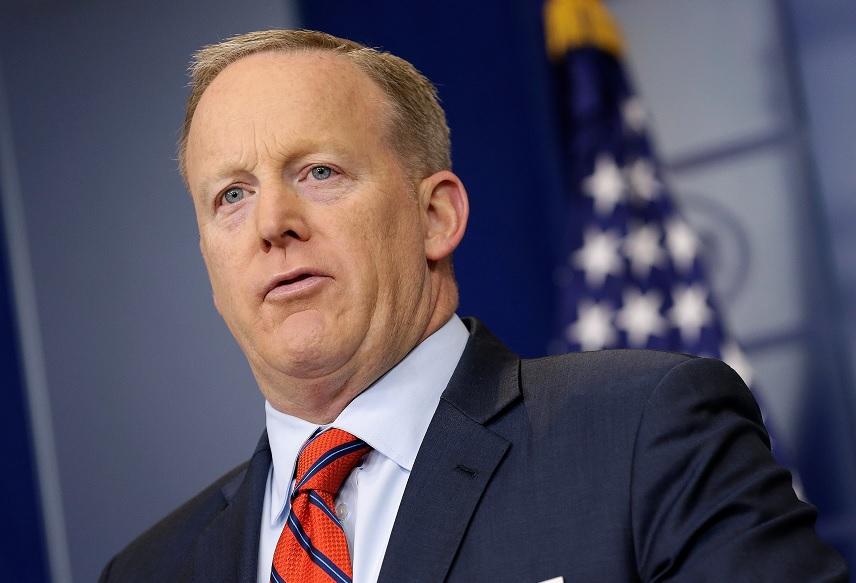 El Secretario de prensa de la Casa Blanca, Sean Spicer, habla durante una rueda de prensa en la Casa Blanca en Washington (Reuters)