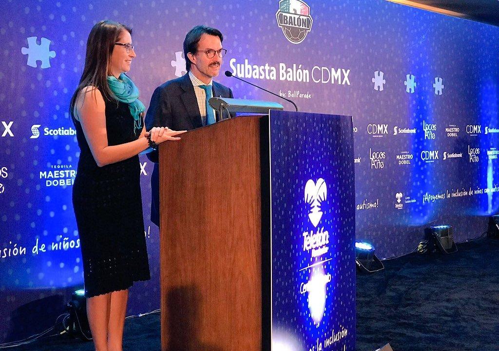 Realizan la 'Subasta Balón CDMX' en apoyo a los niños con autismo. (Twitter @TeletonMexico)