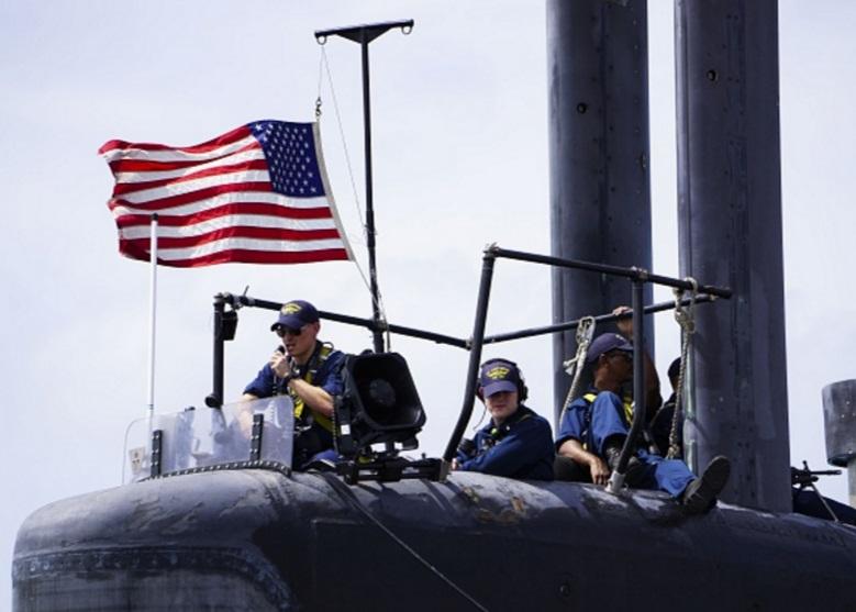 Un grupo de marineros asignados a un submarino de ataque de Estados Unidos (Getty Images/archivo)