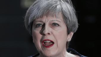 Theresa May, primera ministra británica, hizo en Downing Street el anuncio de las elecciones anticipadas. (AP)