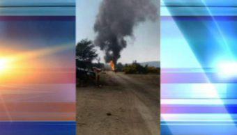 Incendio afecta ductos de Pemex por toma clandestina en Esperanza, Puebla. (Noticieros Televisa)