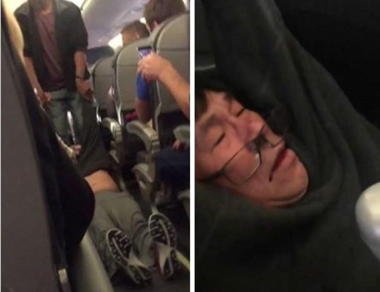 Un pasajero de United Airlines fue sacado con violencia de un avión.