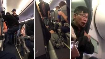 Un pasajero de United Airlines fue sacado con violencia de un avión. (YouTube)