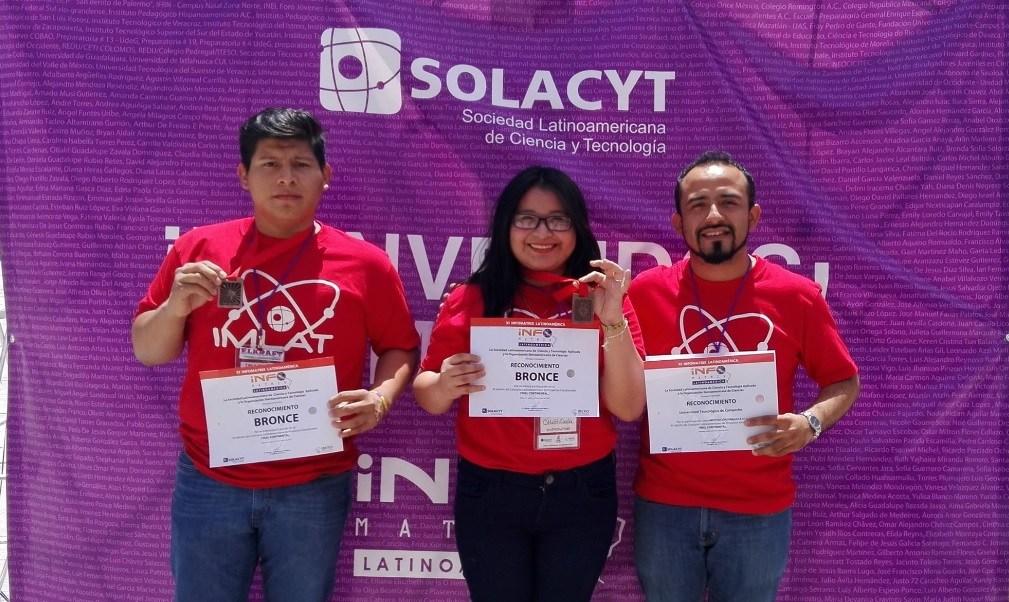 Con el juego didáctico, los alumnos obtuvieron la medalla de bronce en el concurso latinoamericano de Informatrix, que se realizó en Jalisco. (Facebook-Universidad Tecnológica de Campeche)