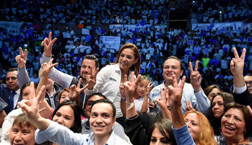 Vázquez Mota dice que su principal rival a vencer es el desinterés electoral en el Edomex. (Twitter/@JosefinaVM)