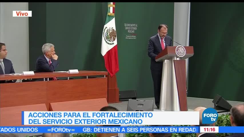 Videgaray hace reconocimiento al cuerpo del Servicio Exterior Mexicano