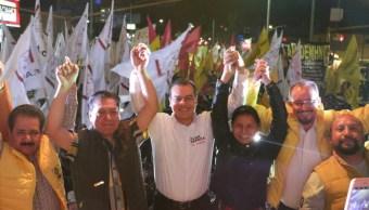 Juan Zepeda, candidato del PRD al gobierno del Edomex, inicia campaña en Nezahualcóyotl. (Twitter/@JuanZepeda)_
