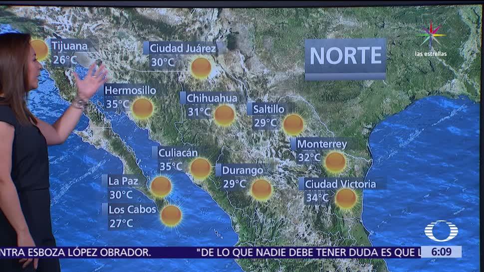 onda de calor, territorio nacional, frente frío, Península de Yucatán