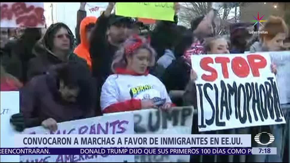 Migrantes, activistas, 1 de mayo, políticas de Donald Trump