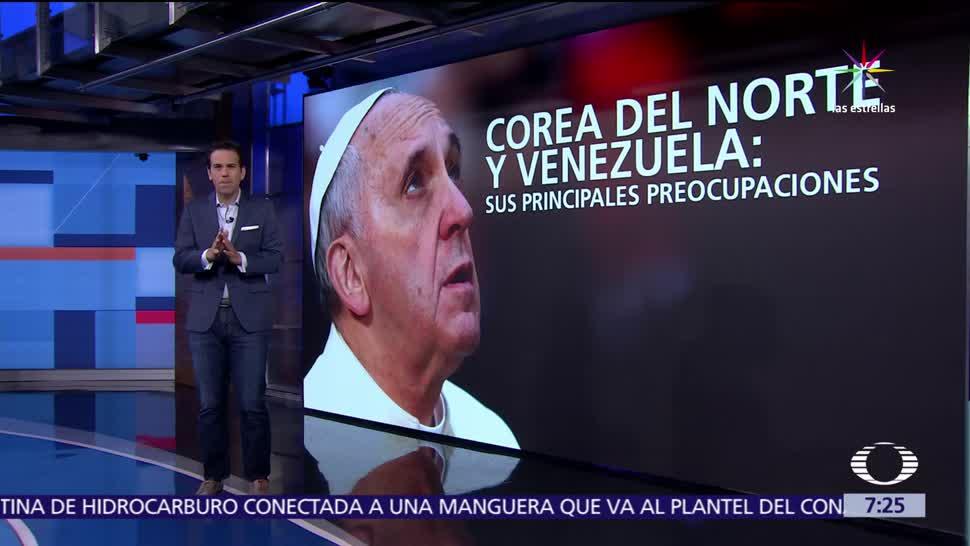 Francisco, crisis de Norcorea , crisis de Venezuela, Egipto