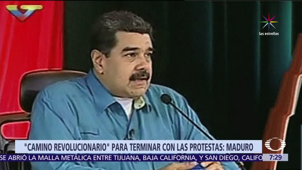 camino revolucionario, manifestaciones, Nicolas Maduro, Venezuela