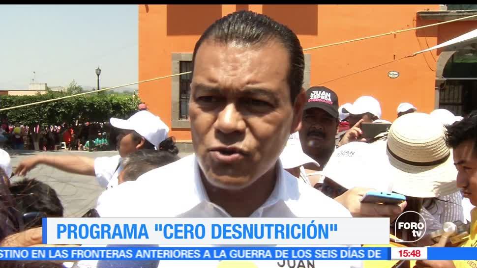Juan Zepeda, Partido de la Revolución Democrática (PRD), Estado de México, Cero Desnutrición