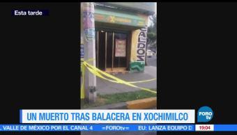 Balacera, Delegación Xochimilco, un muerto, marisquería, tres, lesionados