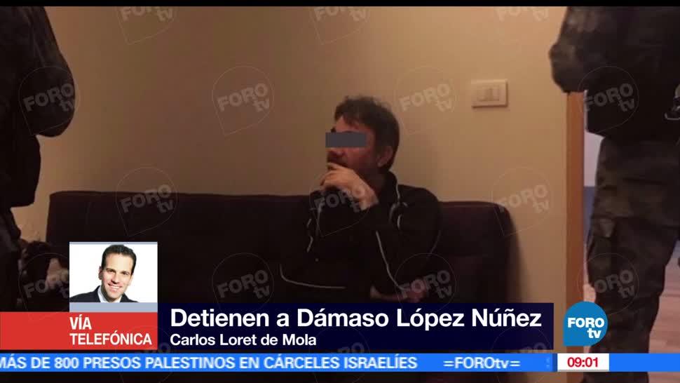 narcotrafico, Matutino Express, Carlos Loret de Mola, detención, Dámaso
