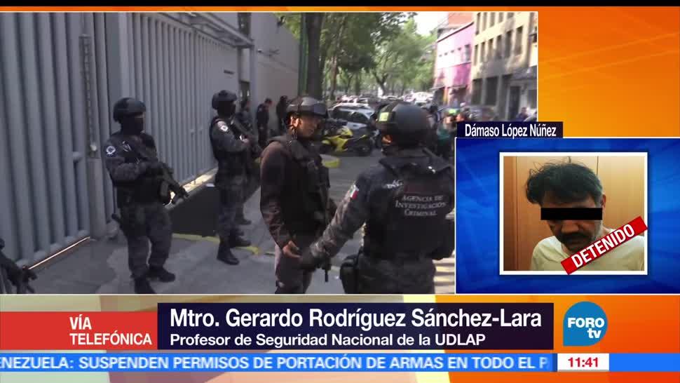 Gerardo Rodríguez Sánchez, UDLAP, detención de Dámaso, narcotrafico