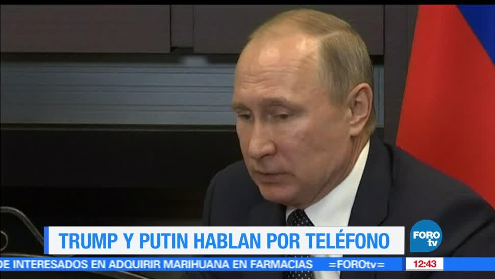 Trump, Putin, hablan por teléfono, relacion rusia estados unidos
