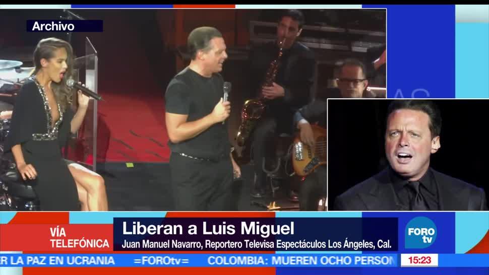 Liberan, Luis Miguel, pagar fianza, estados unidos
