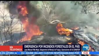 Emergencia, Juan Manuel Villa Mejía, Conafort, incendios forestales