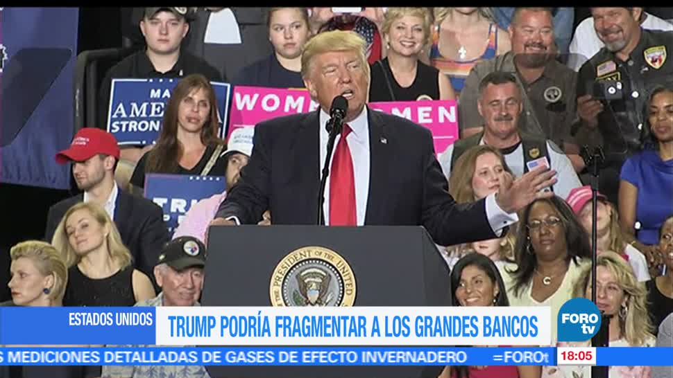 Donald Trump, fragmentar, grandes bancos, Trump